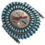 Vintage Inlay Turquoise Bracelet Pre-Restoration 30998