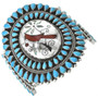 Old Pawn Turquoise Cluster Bracelet 30998