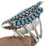 Native American Sleeping Beauty Turquoise Cuff Bracelet 30998