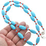 Beaded Turquoise Necklace 31100