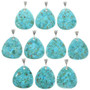 Turquoise Pendants with Sterling Silver Bail 31122