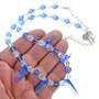 Blue Swarovski Crystal Beaded Necklace 31137