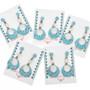 Zuni Sterling Open Hoop Turquoise Earrings 31164
