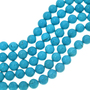 Round Blue Turquoise Magnesite Beads 30837