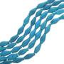 Dark Blue Turquoise Magnesite Tube Beads 30851
