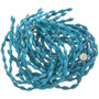 Blue Genuine Stone Tapered Tube Beads 30851