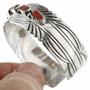 Sterling Silver Coral Nugget Bracelet 31249