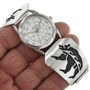 Hopi Sterling Silver Bear Watch Band 31256