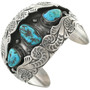 Old Pawn Turquoise Sterling Cuff 31269