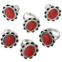 Red Coral set in Sterling Silver Ring 31305