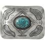 Navajo Turquoise Belt Buckle 31317