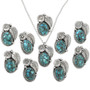 Spiderweb Turquoise Sterling Ladies Pendants 31320