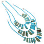 Free Form Turquoise Jasper Slab Bead Necklace 31380