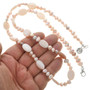 Navajo Beaded Pearl and Pink Shell Necklace 31396