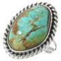 Nevada Turquoise Silver Ladies Ring 31412