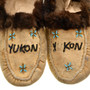 Natural Leather Fur beaded Yukon Moccasins 31501