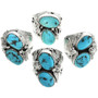 Kingman Turquoise in Sterling Silver Ring 31492