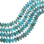 Blue Oval Real Turquoise Beads 30882
