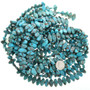 "Kingman Blue 15mm Turquoise Oval Bead 16"" Strand 30882"