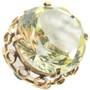 Lemon Quartz 14K Gold Ring Ladies Large Stone Design