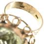 14K Gold Ring Ladies Large Stone Design