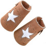 Star and Brass Studs Leather Wrist Cuffs