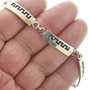 Hopi Style Overlay Tennis Link Bracelet