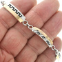 Hopi Style Gold Overlaid Silver Tennis Navajo Bracelet