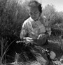 1991 Photo of Potter and Basket Weaver Treva Burton 31706
