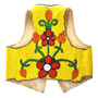 Cree Flower Pattern Beaded Leather Vest 31671