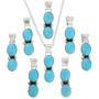 Navajo Two Stone Turquoise Drop Pendants 31747