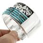 Heavy Gauge Sterling Custom Turquoise Bracelet 31762