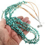 Three Strand Turquoise Heishi Necklace 31767