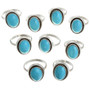 Blue Turquoise Ladies Rings 31771