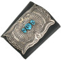 Old Pawn Turquoise Silver Ketoh Cuff Repousse Sterling Bow Guard