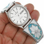 Turquoise Mens Watch Valero Star Sterling Tips 31862