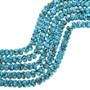 Spiderweb Turquoise Rondelle Beads 31900