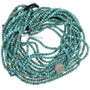 Golden Spiderweb Turquoise Beads 31907