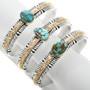 Heavy Gauge Sterling Silver Turquoise Bracelet 32021