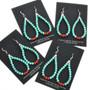 Navajo Turquoise Earrings 32036