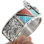 Turquoise Coral Bracelet in Sterling Silver 32103