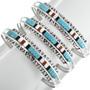 Zuni Pattern Turquoise Bracelet 32110