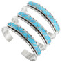 Zuni Inlay Sterling Silver Bracelet 32128