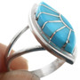 Zuni Turquoise Silver Ring 32167