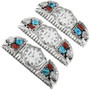 Navajo Silver Buffalo with Turquoise Watch 32170