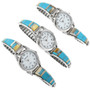 Turquoise Inlay in Sterling Silver Watch 32171