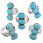 Blue Turquoise Western Ring 32178