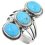 Three Stone Turquoise Ring 32178
