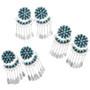 Turquoise Silver Western Dangle Earrings 32216