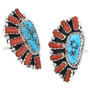 Western Coral Turquoise Ring 32225